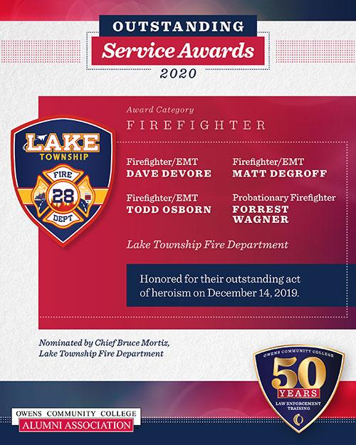 2020 Outstanding Service Award, Firefighter