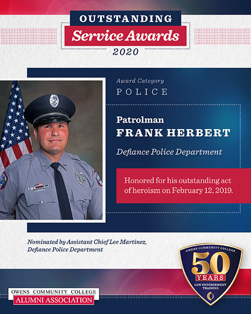 Patrolman Frank Herbert, Defiance Police Department