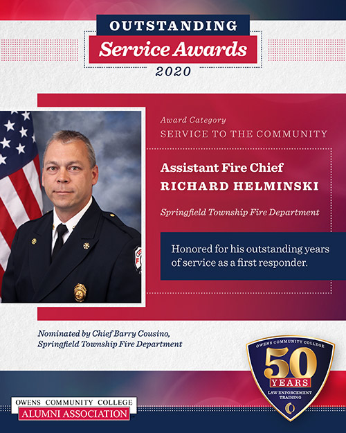 Assistant Fire Chief Richard Helminski, Springfield Township Fire Department