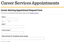 Make an appointment with a Career Advisor