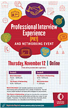Professional Interview Experience (PIE), Thursday, November 12