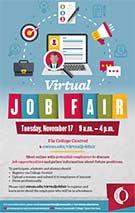 Virtual Job Fair Tuesday, November 17, 2020