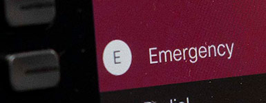 Emergency Button on College Telephones