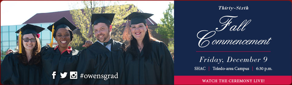 Commencement - Friday, December 9 at 6:30 p.m.