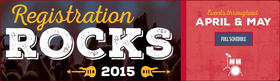 High School Seniors! Sign up for Registration Rocks!