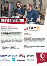 OH! FAME Earn while you Learn Applied Engineering students
