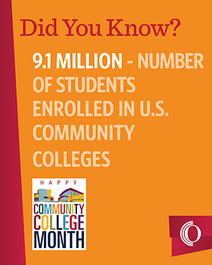 9.1 milliion is the number of U.S. students enrolled in U.S. community colleges