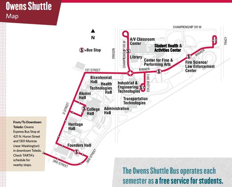 Owens Shuttle map
