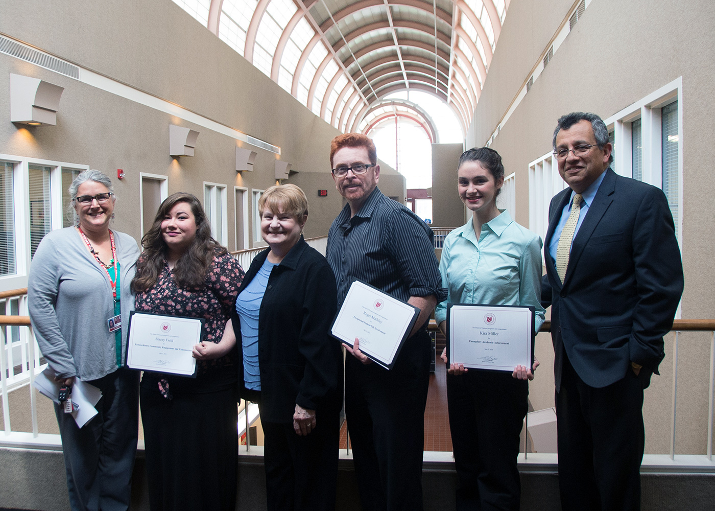 Student Life Committee Recognizes Stacey Field, Roger Markley, Kira Miller