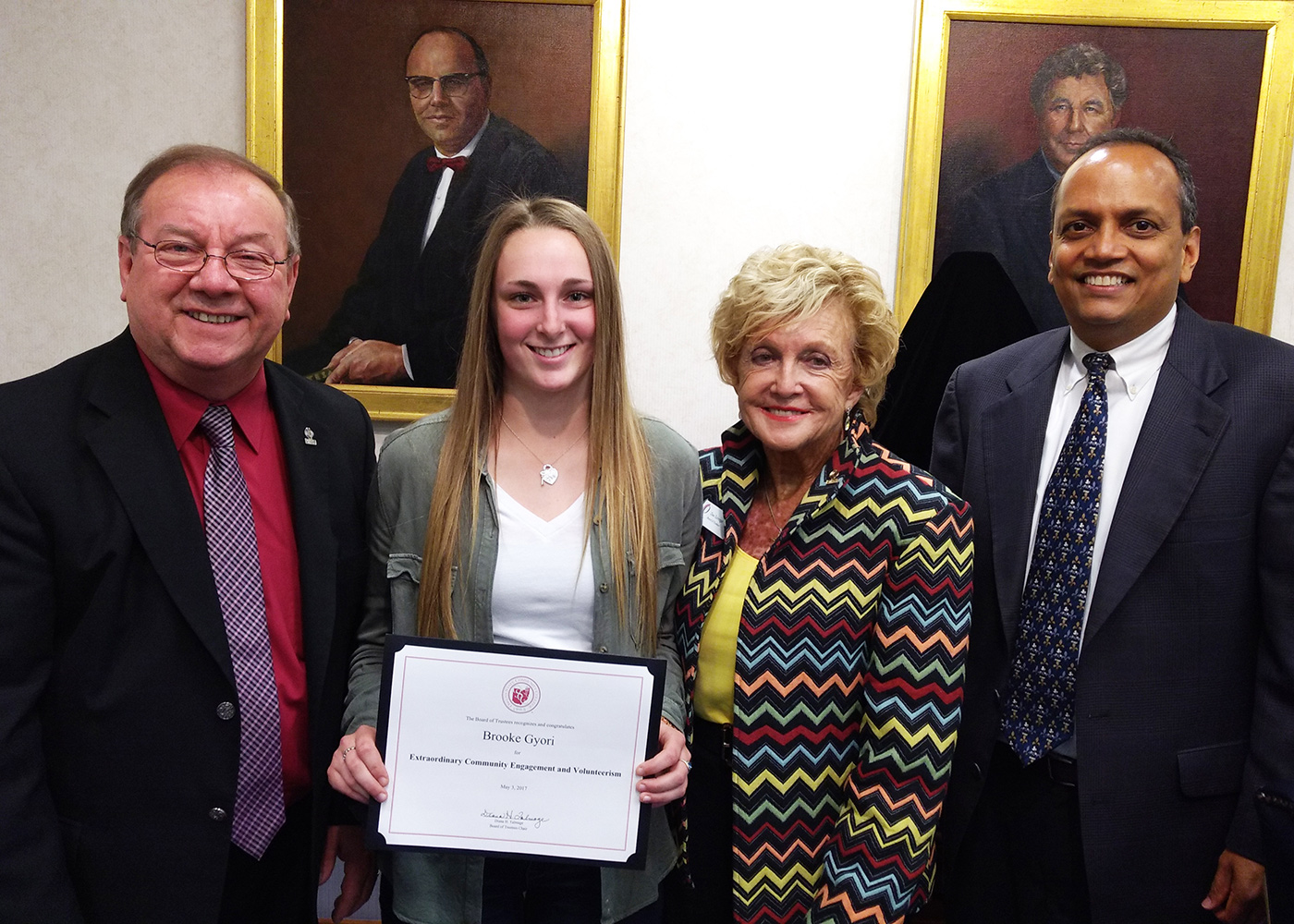 Student Life Committee Recognizes Brooke Gyori