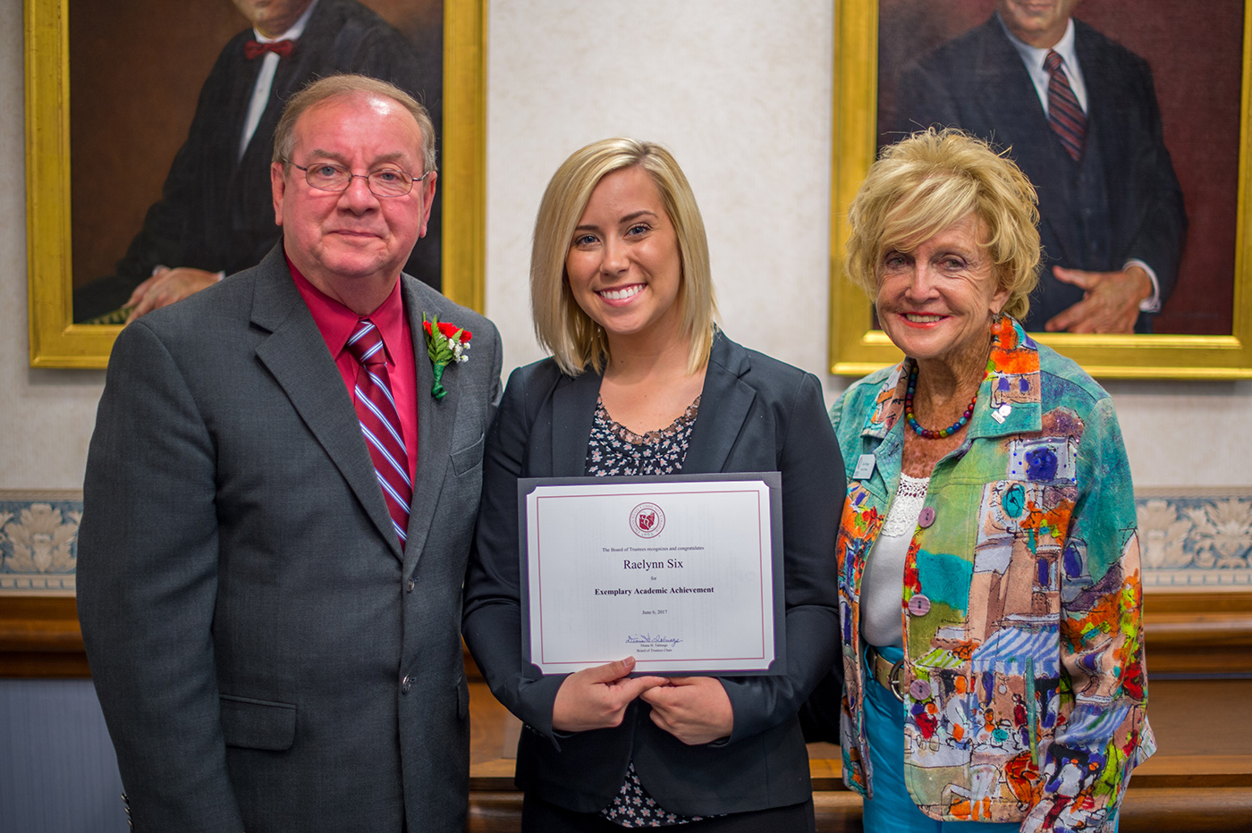 Student Life Committee Recognizes Raelynn Six
