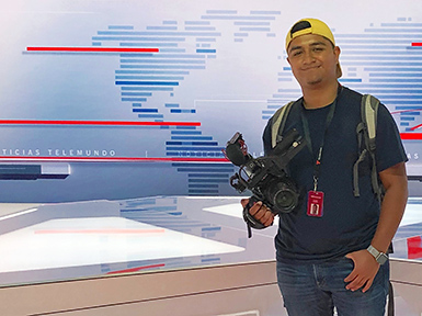 Hanssel Martinez, Broadcast Media graduate