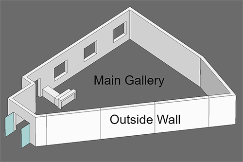 3D Gallery Sketch Outside Gallery Walls Closed