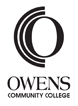 Click links to download - Owens logo, black