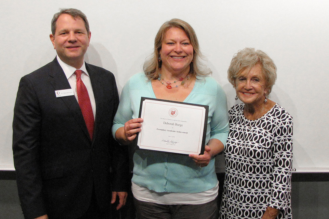 Student Life Committee Recognizes Deborah Burge