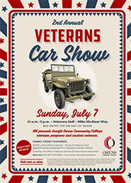 2019 Veterans Car Show Flyer