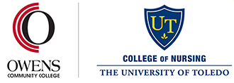 Logos for Owens Community College and the University of Toledo